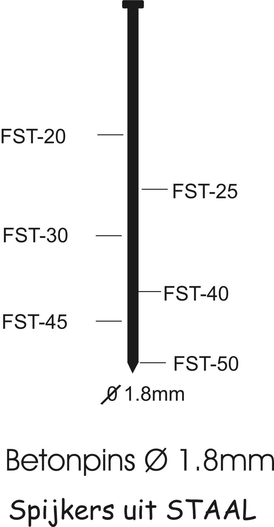 K200726 FST brads FST30 STAAL